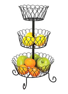 Details About 3 Tier Fruit Basket Bowl Holder Stand Kitchen Organizer Vegetables Storage Decor