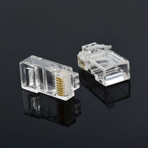 100pcs 8Pin RJ45 Connector CAT5 CAT5e Modular Cable Plugs Network Crystal Plugs
