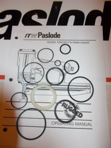 Paslode Finition Cloueur # 403700 3250-F16 O-Ring Kit cylindre Seal 402725