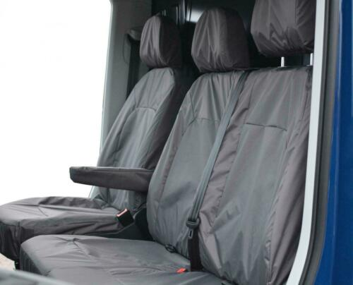 Vauxhall Movano Front Inka Tailored Waterproof Seat Covers Grey MY10-16