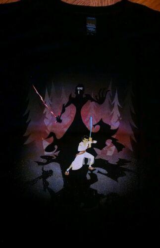 Star Wars Samurai Jack Rey Kylo Ren mash up T-shirt Force Awakens