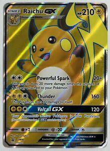 Pokemon-Sonne-und-Mond-Fullart-Holo-GX-Rare-Promo-Karte-Raichu-SM90-Proxy