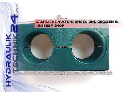 Doppel-Rohrschelle für 2x 6 mm Rohr Hydraulik SET mit 5 Stück