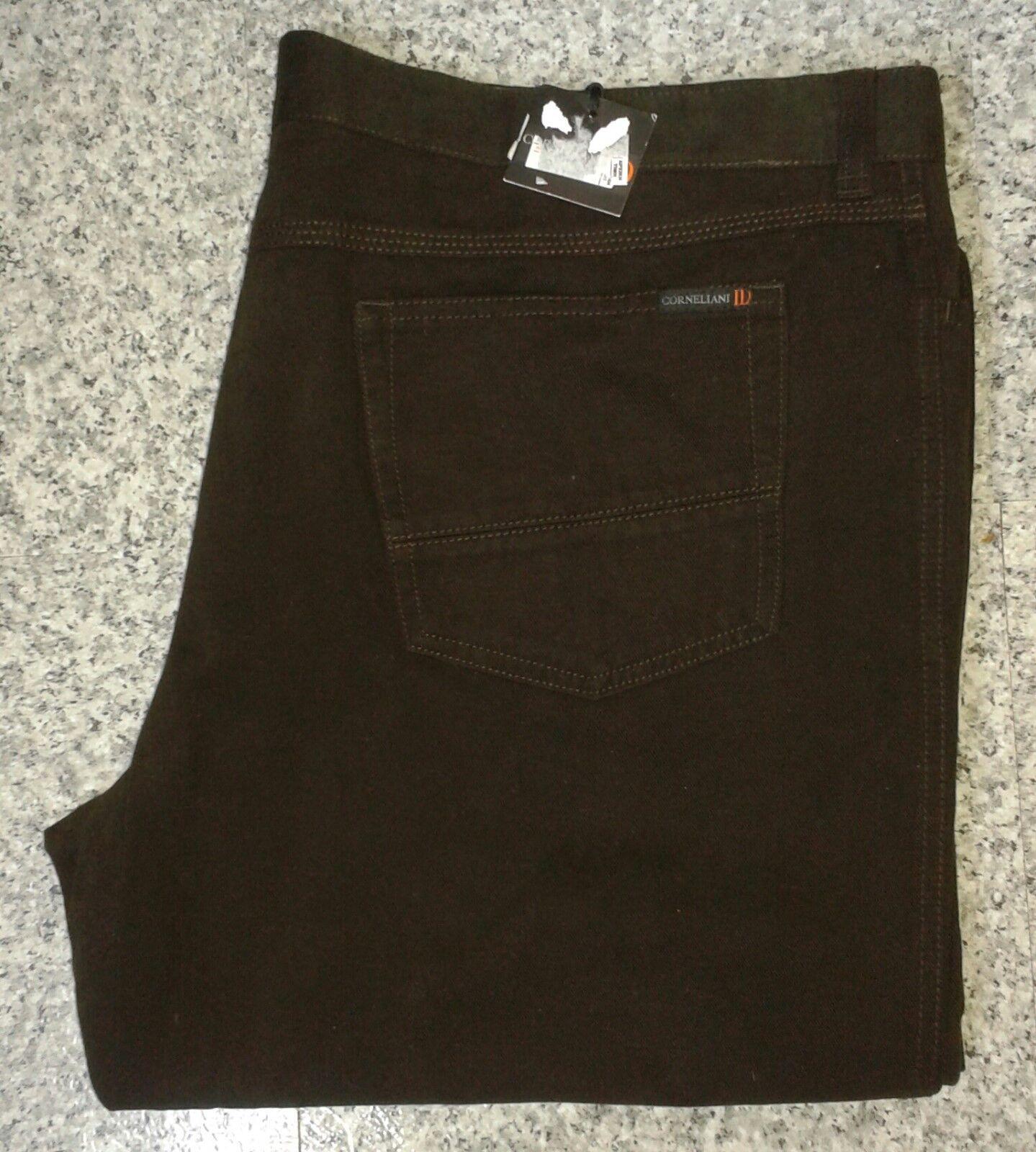 CORNELIANI ID Pants Pantaloni Marronee Scuro-W43 L34, W39 L34