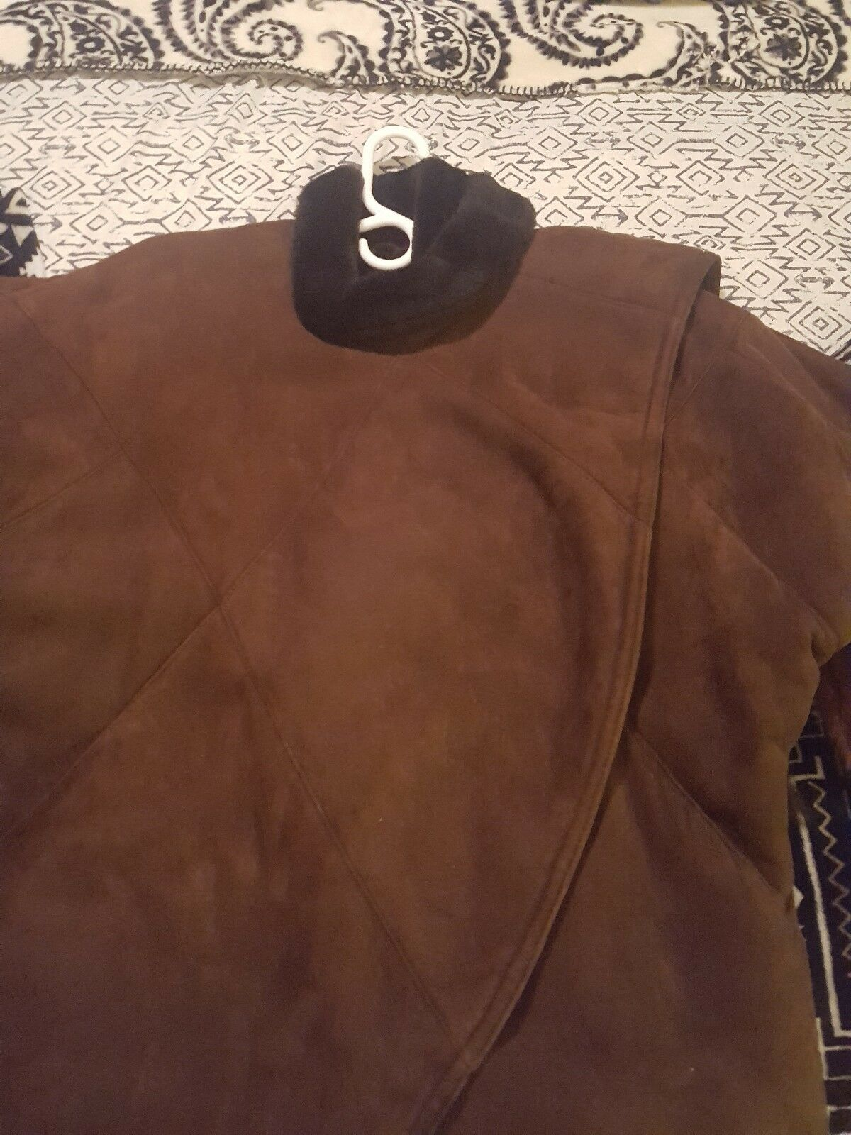 Genuine Shearling with Natural Mink Tassels size S-M