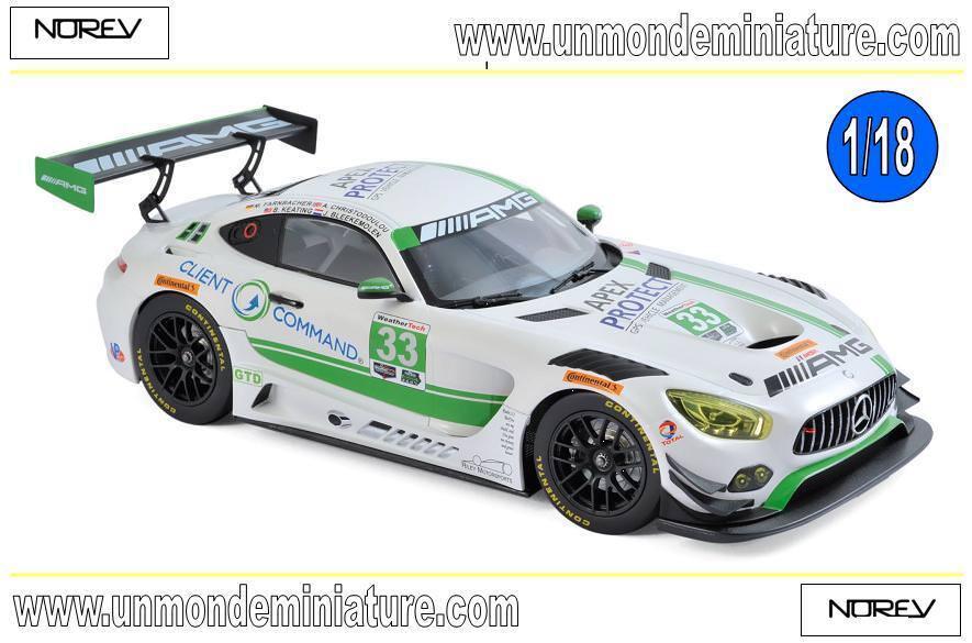 conveniente Mercedes-AMG GT3 GT3 GT3 Daytona de 2017 3rd place GT Daytona Class  NOREV 183494 1 18  suministramos lo mejor