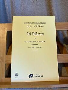 Jean Langlais 24 pièces pour harmonium ou orgue volume 1 partition ed. Jobert