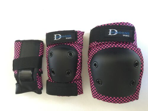 Roller Skate Skating Scooter Protective Guards 3 Pack Adult Medium Pink