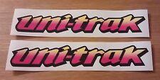 Uni-Trak Swing Arm Sticker Decal - Kawasaki KX  KMX KDX 125 250 Yellow / Pink