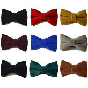 Men-Solid-Color-Velvet-Bow-Tie-Adjustable-Party-Wedding-Classic-Bow-Tie-Hot-Sale