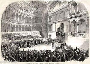 Torino capitale apertura parlamento italiano grande for Immagini parlamento italiano