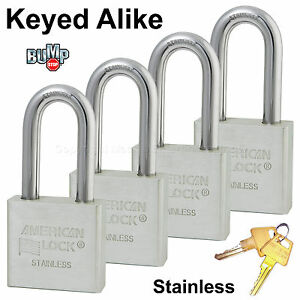 Details about American Padlock - High Security Locks Solid Stainless Steel  A6461NKA-4 BumpStop
