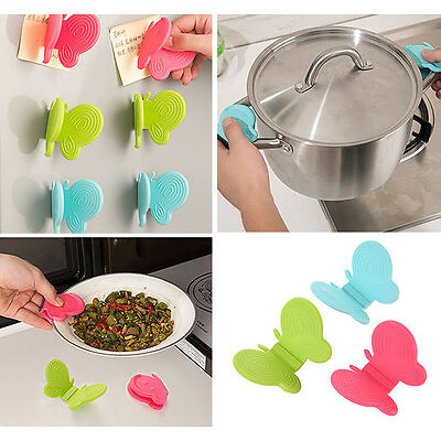 Chic Adorable Butterfly Silicone Anti-Scald Device Practical Kitchen Tool Gadget