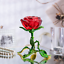 thumbnail 6 - Crystal Red Rose Flower Figurine Craft Collectible Gift For Mothers Day Birthday