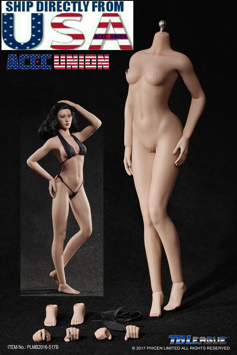TBLeague 1/6 S17B Super-Flexible Female M Bust SUNTAN Seamless Body USA SELLER