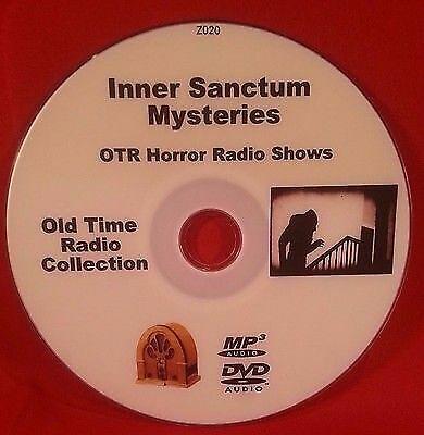 Inner Sanctum Mysteries OTR MP3 DVD 149 Old Time Radio Shows Audio Book