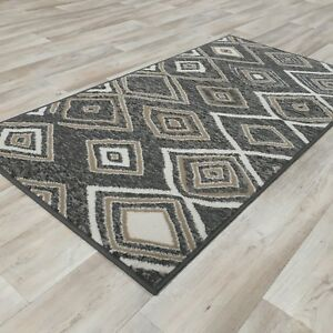 Image Is Loading New Grey Taupe Aztec Modern Rug Small Large