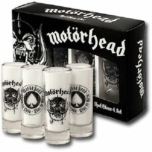 MOTORHEAD-verres-a-schnaps-4-shotglaeser-Royaume-uni-amp-Ne-A-PERDRE-Tir-Glass-4