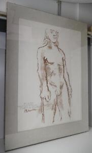 Oskar-Kokoschka-034-Kouros-II-034-1968-Lithographie-Signiert-104-5-x-74-5-cm
