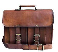 Vintage leather messenger bag for men women shoulder bag satchel laptop bag