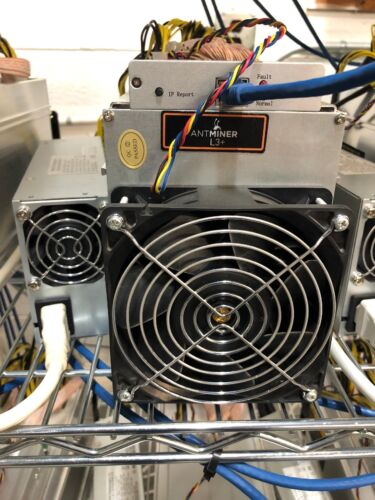 PSU Scrypt 504MH//s Miner w// APW3+ FREE SHIP Bitmain Antminer L3 Lightly Used