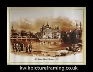 Original-First-Print-Of-The-Golden-Temple-Amritsar-1833-In-Size-18-X-14