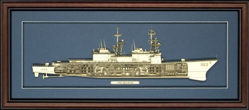 Personalized Spruance 963 Class Destroyer Cutaway Museum Quality