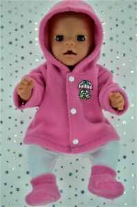 Play-n-Wear-Dolls-Clothes-To-Fit-17-034-Baby-Born-CANDY-PINK-JACKET-TIGHTS-BOOTIES