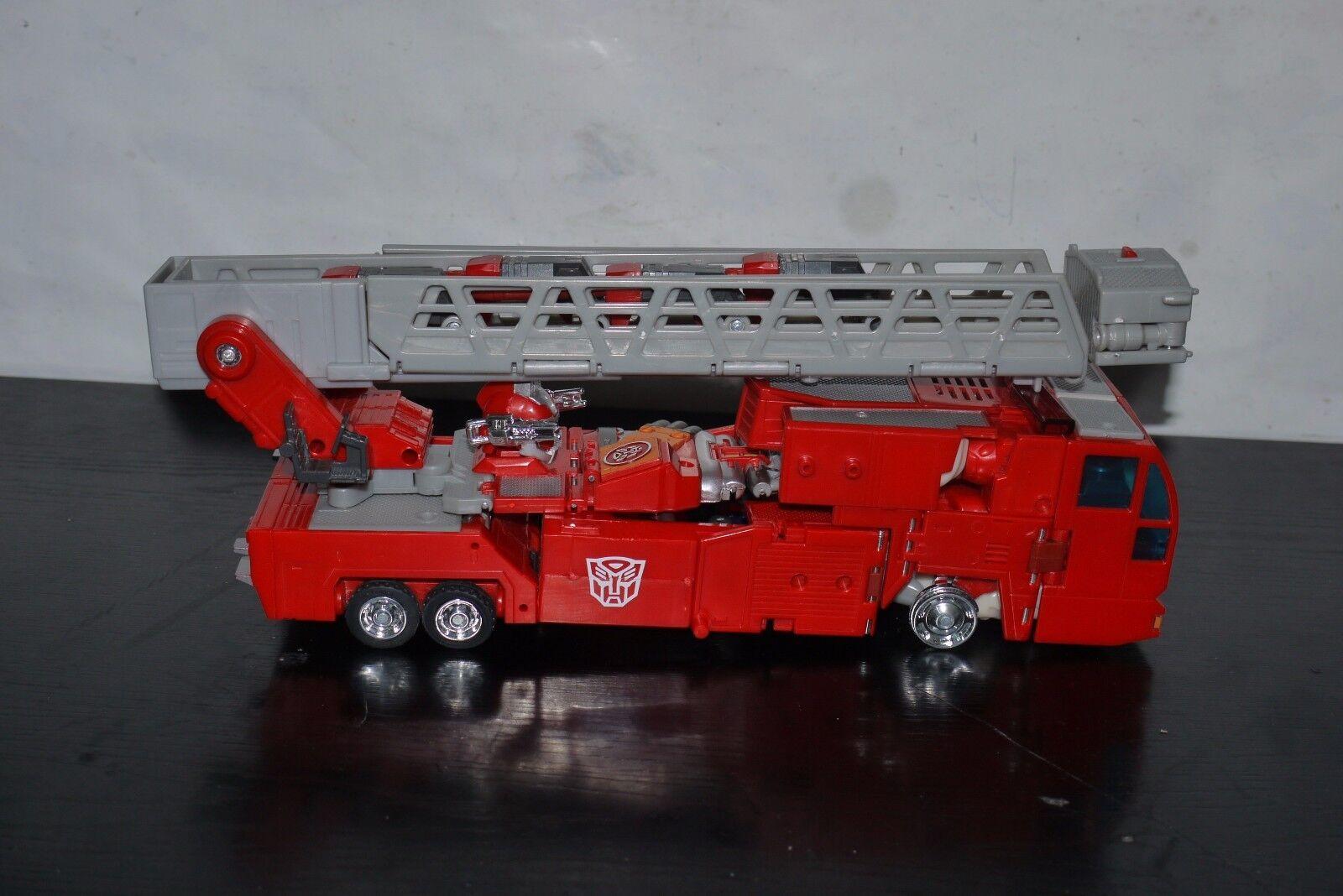 Takara Transformers RID Cybertron Optimus Prime Super Fire Fire Fire Convoy 99% COMPLETE 007fb7
