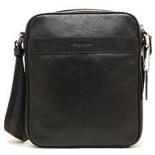NWT Coach Men BLACK Flight Messenger Crossbody Leather Bag F54782 - New$295