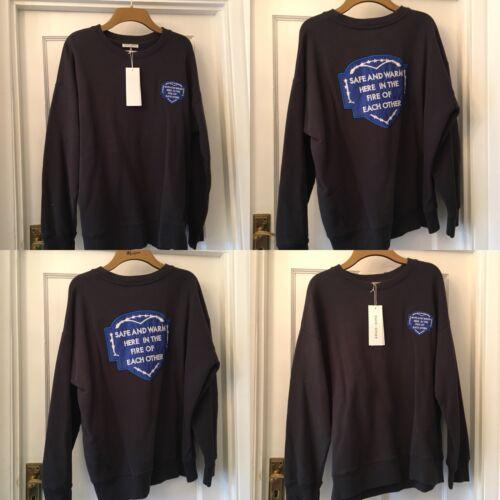 Montgomery sécuritaire Each gris Other m Robert X Nouveau foncé sweatshirt uk12 Haut et chaud Azw4ZqX