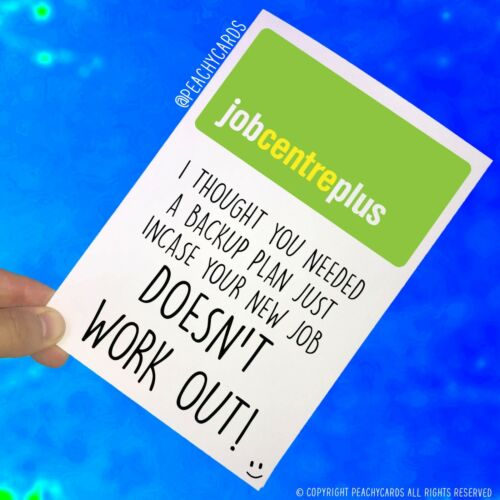 Funny New Job Card Coworker Leaving Good Luck Congrats Banter Office Jokes PC478