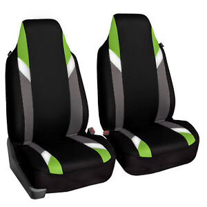Superb Details About Supreme Modernistic High Back Pair Bucket Car Auto Suv Covers Green Black Cjindustries Chair Design For Home Cjindustriesco
