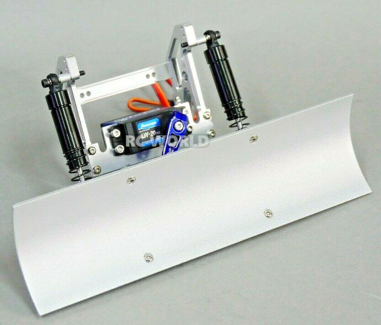 Radio Control 1 10 nieve Blade SNOW PLOW con suspensión + Servo + Horn