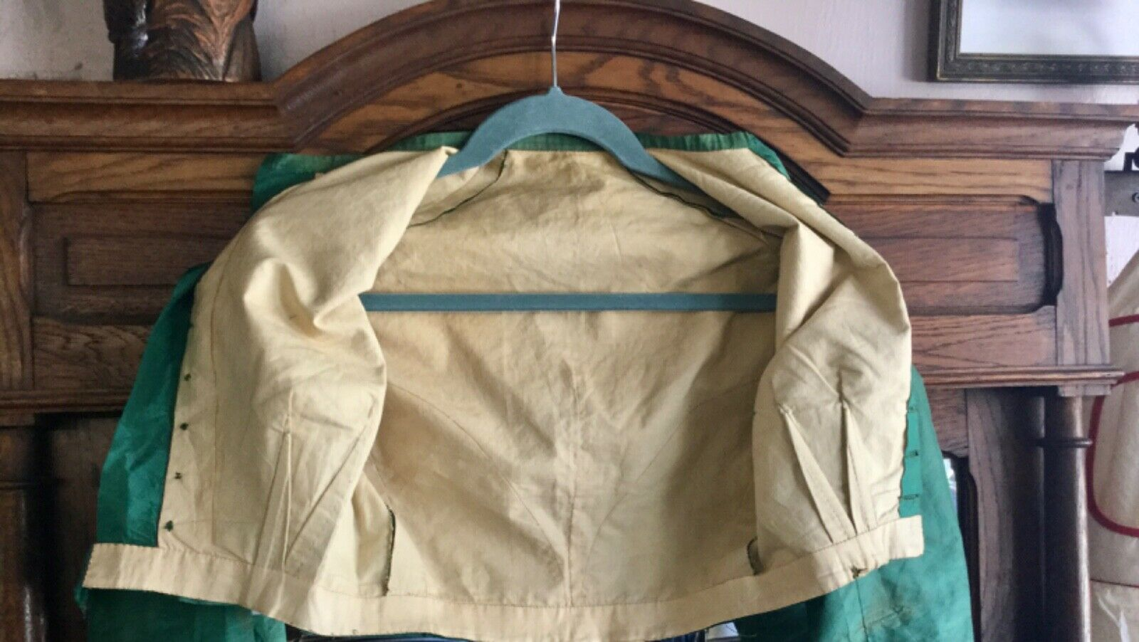 Antique Victorian1860s Green Bodice Blouse  - image 9