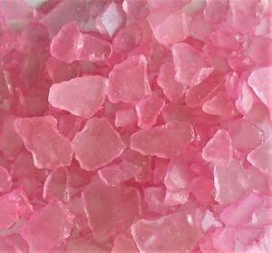 SEEGLAS 1 kg. Glasscherben ca 20 - 50 mm, Mosaikglas, Glas- Bruch.  rosa PINK