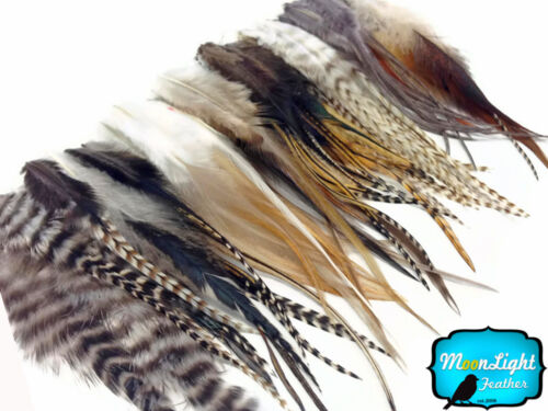 bulk Wholesale NATURAL Short Rooster Hair Extension Feathers 100 Pieces
