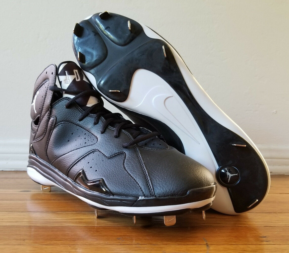 Men's Nike Jordan Retro 7 Metal Baseball Cleats 684943-010 Black Men's Comfortable New shoes for men and women, limited time discount