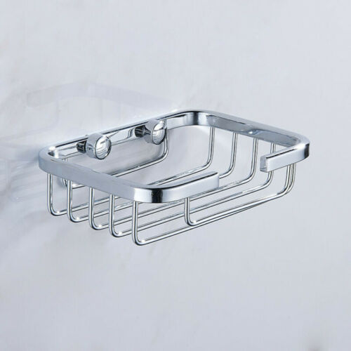Wall Mounted Soap Dish Stainless Steel Bathroom Kitchen Shower Sponge Holder