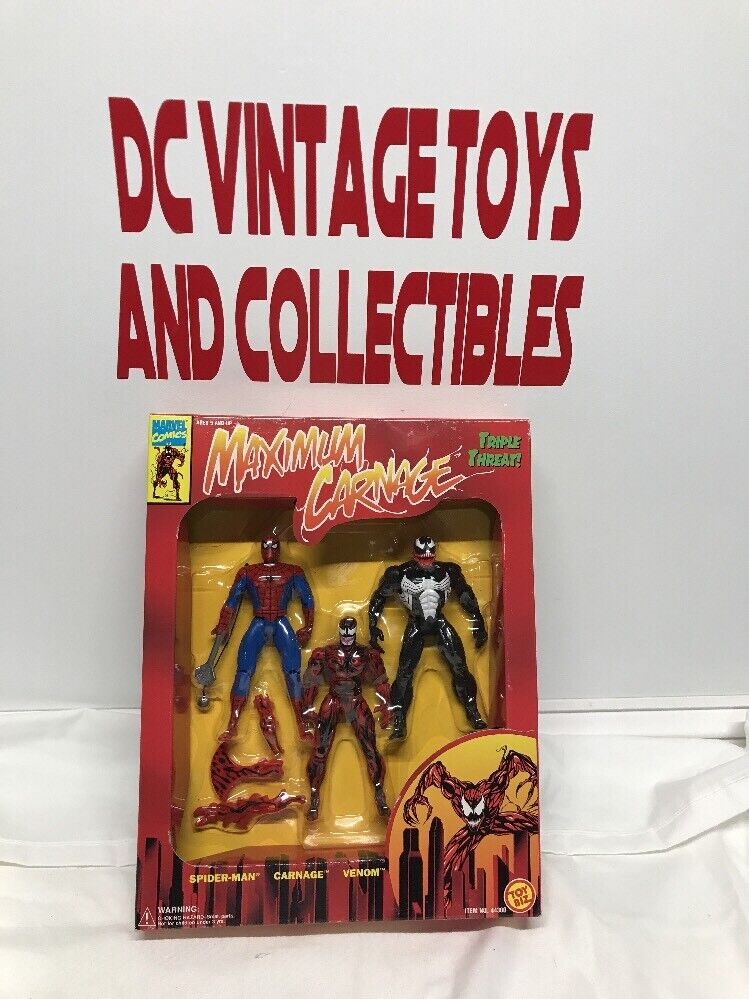 Spider-Man Maximum Carnage 3 Figure Set. Marvel. Toy Biz. 1994. Venom