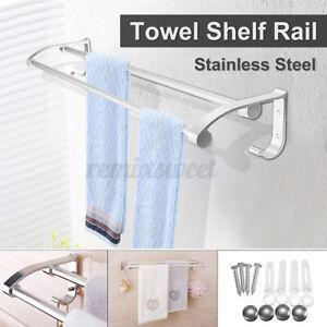 Holder Shelf Wall Mounted Bath Hotel Home Towel Rail Rack Aluminum Home Use