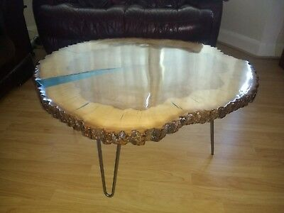 Live Edge Epoxy Resin Coffee Table Ebay