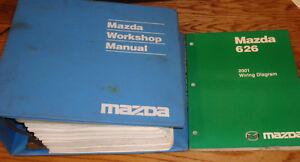 Original 2001 Mazda 626 Shop Service Manual Wiring Diagram Set 01 Ebay