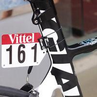 Custom Road Bike Triathlon Number Plate Mount Holder Decals Clamp On Seatpost