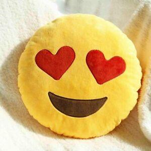 Emoji Cuscini.Cuscino Decorativo Emoji Peluche Emoticon Smile Occhi Di Cuore