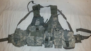 LIGHTWEIGHT-MOLLE-II-ACU-FLC-ADJUSTABLE-FIGHTING-LOAD-CARRIER-W-POUCHES-JJ-1022