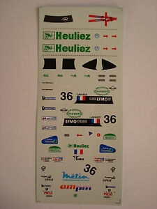 DECALS-KIT-1-43-WR-PEUGEOT-TEAM-WALTER-RACING-LE-MANS-2000-N-36-DECALS