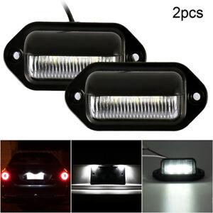 2-4X-LED-Licencia-Numero-De-Matricula-Luces-para-camion-remolque-Caravan-Camion-Universal