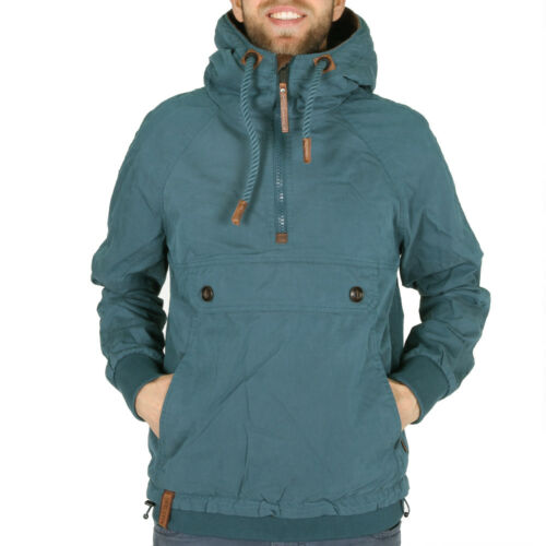 Naketano CRUISER JACKET deepthroat Ocean transitorio da Uomo Giacca Windbreaker BLU