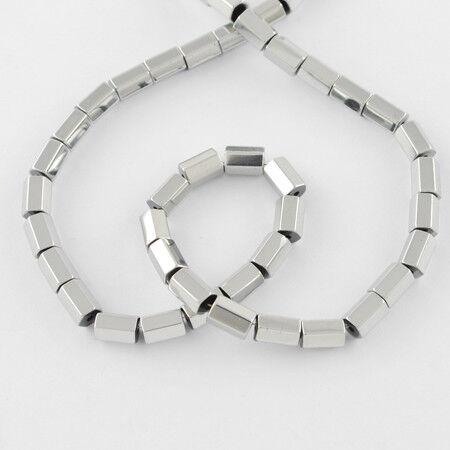 Hämatit Perlen 80St #5324 silver 5x3mm rek